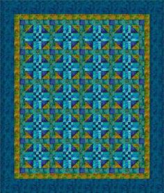 Free Quilt Patterns for Beginning to Experienced Quilters: Midnight Blues Quilt Pattern