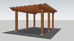 Pergola Kayu 3x4 M2 - 3D Warehouse