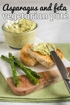 Asparagus and feta vegetarian pâté - made with chargrilled asparagus, salty feta cheese, garlic and chickpeas! This spread is so easy to make, and so versatile - serve it as a dinner party appetiser, a sandwich filling, or even a pasta sauce! #vegetarianpate #hummus #chickpearecipes #chickpeas #asparagus #fetacheese #healthyvegetarian