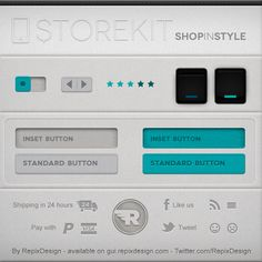 Customizable user interfaces PSD templates for iPad and iPhone apps