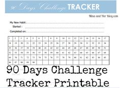 90 Days Goals Challenge with Free Printable | Mina and Her Blog