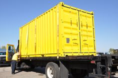 Original folding container prototype headed for testing