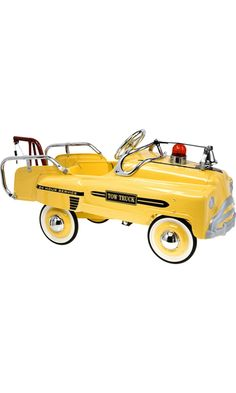 American Retro Pedal Tow Truck @barneys.com  Toys#babies#yellow#truck