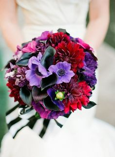 Purple and red bouquet