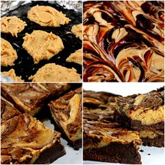 The BEST Peanut Butter Cheesecake Swirl Brownies!