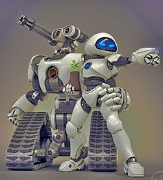 Wall.E And Eve The Robots by joseph11stanton.d... on @deviantART