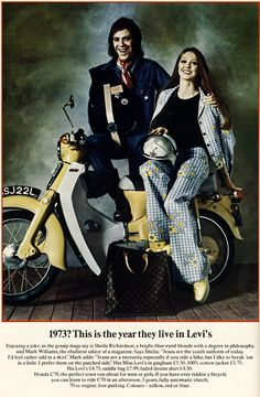1973 Levis and Honda ad.