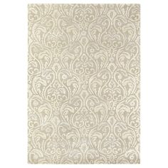 Giulietta Rug from the Sanderson Home Accessories range, with a floral damask design shown in beige on a subtle eau de nil ground. Country House Interior, Hand Tufted Rugs, Muted Colors, Design Show, Rug Making, Woven Rug, Soft Furnishings, Timeless Design, Damask