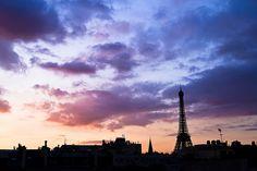 La Tour Eiffel au crépuscule