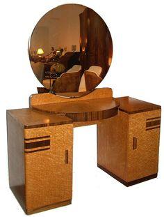 Art Deco Vanity Art Deco Dressing Table, Dressing Tables, Dressing Room, Unique Furniture, Vintage Furniture, Muebles Art Deco, Art Nouveau Furniture, Art Deco Bedroom, Art Deco Home