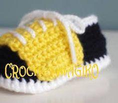 zapatitos para bebe a crochet - Pesquisa Google