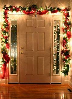 Christmas Garland Door