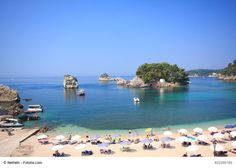 Parga Beach, Greece - Parga is a small but wonderful town in the Epirus region… Greek Town, Greek Culture, Vacation Trips, Vacations, Greece Travel, Summer Travel, Greek Islands, Historical Sites, Tourism