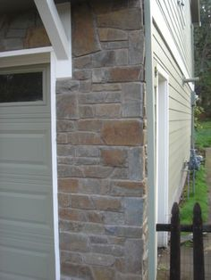 Stone Veneer Exterior Design Ideas, Pictures, Remodel and Decor