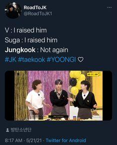 Jikook, Bts Memes, Seokjin, Hoseok, Namjoon, Taehyung, Jin Dad Jokes, Real Friendship Quotes, Bts Tweet