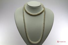 Pearl Necklace white TOP 7-7½mm L100 in Gold 18K Collana Perle bianche TOP 7-7½mm L100 in Oro 18K #jewelery #luxury #trend #fashion #style #italianstyle #lifestyle #gold #store #collection #shop #shopping  #showroom #mode #chic #love #loveit #lovely #style #all_shots #beautiful #pretty #madeinitaly #necklaces #necklacesforsale