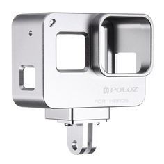 [$17.02] PULUZ Housing Shell CNC Aluminum Alloy Protective Cage with Insurance Frame for GoPro HERO5(Silver)