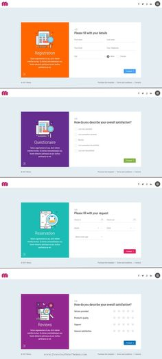 Mavia is and unique and modern design #bootstrap template to create #registration, #reservation, #questionnaire or #reviews wizard with nice UI/UX form elements design: radio, checkbox, select download now >