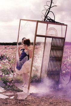 Helena Bonham Carter in Alexander McQueen  by Tim Walker for Vogue UK, December 2008