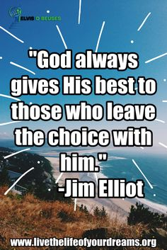 """""""GOD always gives HIS BEST to those who Leave the CHOICE with Him!!!"""