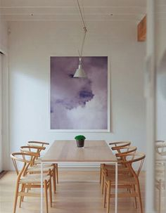 simple table, Wishbone chairs