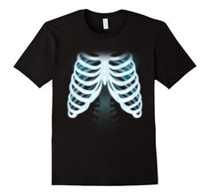 Bone scan x-rays ribs skeleton funny design t-shirt