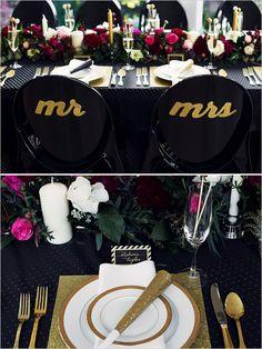 New Year's Eve Wedding Inspiration by weddingchics.com