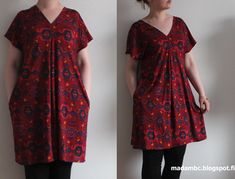 Madam B.C.: Tee-se-itse: Ompele mekko osa 3. Short Sleeve Dresses, Dresses With Sleeves, Diy Clothes, Summer Dresses, Sewing, Tees, Handicraft Ideas, Fashion, Diy Clothing