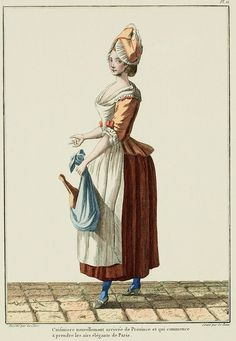 Cook, newly arrived from the Provinces, who is beginning to take on the elegant airs of Paris. (1778)