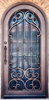 Wrought iron door ;)  I like this a lot! I should have a trellis made like this