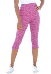 Plus Size Knit Capri Legging