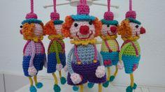 gehaakt clown sleutelhanger