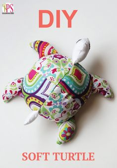 Create a bright and colorful DIY turtle for baby to cuddle.