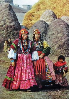 Kurdish women in a northwestern Azerbaijani village; photograph by Roger Wood, 1969. The Kurdish lands cover Southeast Turkey as well as Southwest Iran, Northern Iraq and Northern Syria. Smaller groups of Kurds live also in Northeast Turkey (Ardahan) and in Armenia.