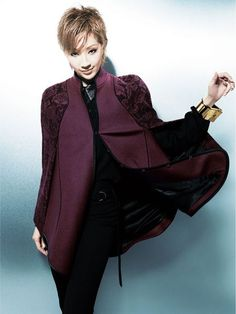 紅ゆずる Nanami, Interview, Ruffle Blouse, Leather Jacket, Stars, Jackets, Collection, Women, Fashion