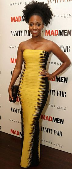 Teyonah Parris. Natural hair on the red carpet. Just as beautiful as anywhere else. Have you seen the new promotion Real Techniques brushes -$10 http://www.purevolume.com/samanjoin/videos/13917222/Real+Techniques+by+Samantha+Chapman+iHerb+coupon+OWI469 #women #beauty #beautywomen