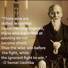 Thus, the wise win before the fight...