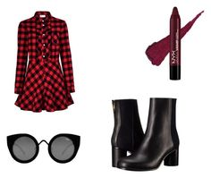 """""""welcome to the farm"""" by anne-nocito on Polyvore featuring moda, RED Valentino, Paul Smith, Quay, monochrome, grunge y ragandbone"""