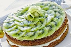 Il Blog di Cinzia Bois: Torta light con kiwi