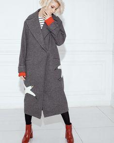 Серое пальто из 100% шерсти в магазине «SoulDeep» на Ламбада-маркете