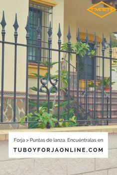 Puntas de lanza de #forja para su #jardín y zonas exteriores. Encuéntralas en tuboyforjaonline.com #tubos #decoración #verjas #rejas
