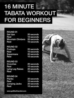 16 minute tabata workout for beginners.