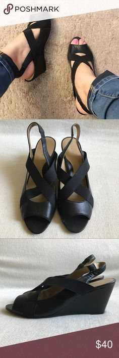 Tignanello Leather Wedges Shows some signs of wear on wedges and bottom of heel as shown in photos, but still in solid condition!  Does not include box. Tignanello Shoes Wedges