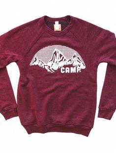 A wish: ROCKY MOUNTAIN CREWNECK SWEATSHIRT   TRI-RED, $79.99 by Camp Brand Goods