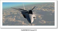 F22 Fighter Jet - Artwork  - Art Print from FreeArt.com