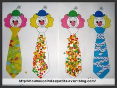 Clown Crafts, Circus Crafts, Theme Carnaval, Le Clown, Mardi Gras, Carnival, Crafts For Kids, Preschool, Animation