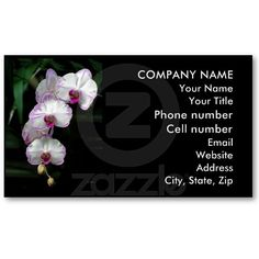 Cascading Orchid Beauties Business Cards by birdersue from Zazzle - Digital photography and design by Sue Melvin