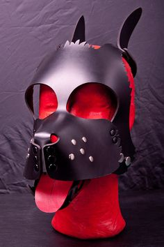 LAPDOG  Extra-Detailed Pup Hood Genuine Leather  by TheDogsBolloXX