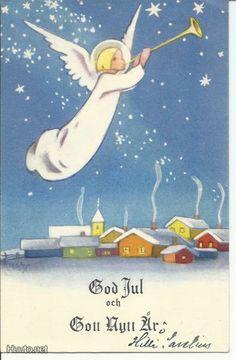 Christmas Tale, Very Merry Christmas, Vintage Christmas Cards, Retro Christmas, Vintage Holiday, Christmas Greeting Cards, Christmas Angels, Christmas 2019, Christmas Greetings