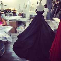 Back in our studio this beautiful silk faille gown is being created for a very special client! #christiansiriano